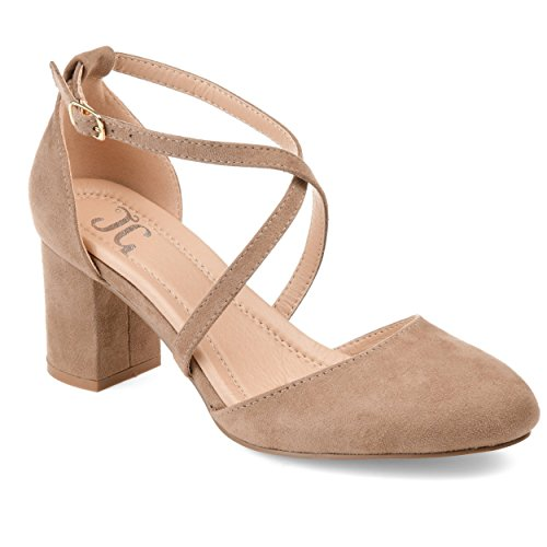 - Journee Collection Comfort Womens Foster Pump Taupe, 9 Regular US