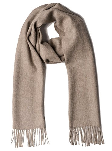 (100% Pure Baby Alpaca Scarf - Bright Happy Solid & Natural Dye Free Colors (Taupe))