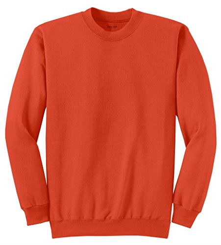 - Joe's USA tm Adult Classic Crewneck Sweatshirt, L -Orange