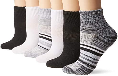 Hanes womens Lightweight Breathable Ankle Socks 6 Pair Pack
