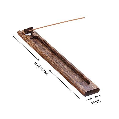 UOON Antique Wood Incense Burner Holder Ash Catcher (02) - incensecentral.us
