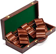 GSE Games & Sports Expert Acrylic Chip Case/Acrylic Chip Carrier with Chip Trays(600-Piece / 1,000-Pi