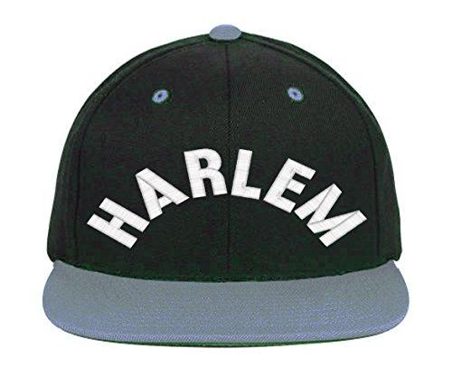 HARLEM Snapback-Black-Gray - Mall Harlem Chicago