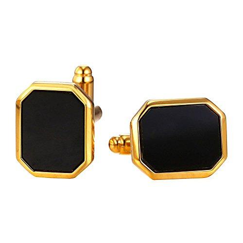 U7 Fashion Polygon Plated Cufflinks