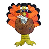 Fashion Vivid Turkey Door Garden Flag Banner Sign for Thanksgiving Theme Party Holiday Festival Celebration Decorations Supplies 30x45cm
