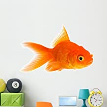"Goldfish Wall Decal by Wallmonkeys | Peel and Stick Graphic | 48""W x 36""H 