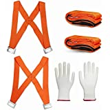 Lifting And Moving Straps,2-Person Moving System with Foam Pad 13 Feet ,Heavy Object UpTo 800Lbs - Easily Move, Lift, Carry,And Secure Furniture& carrying straps With Bonus Slip-Proof Gloves By LUESBOEK