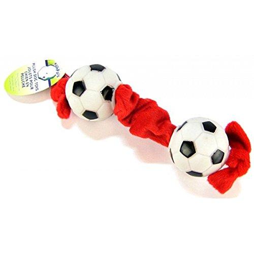 Coastal Lil Pals Toy (Coastal Pet Products DCP84206 Li'l Pals Plush and Vinyl Tug Dog Toy, Soccerball, 8-Inch)