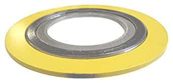 for 4 Pipe Supplied by Sur-Seal Inc Sterling Seal 90004304GR1500X24 304 Stainless Steel Spiral Wound Gasket with Flexible Graphite Filler Yellow With Grey Stripe Pack of 24 for 4 Pipe Pressure Class 1500# of NJ