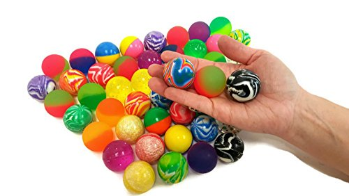 Bouncy Balls, Mix of Bright Colorful SUPER Bounce Balls, 1.5