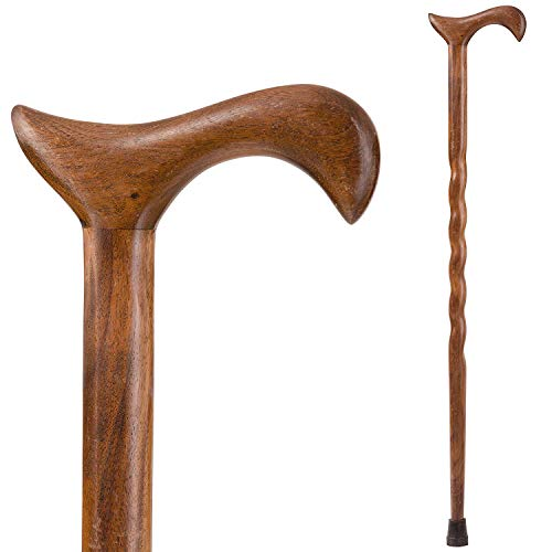 Brazos Walking Cane for Men and Women Handcrafted of Lightweight Wood and made in the USA,   Walnut, 34 Inches