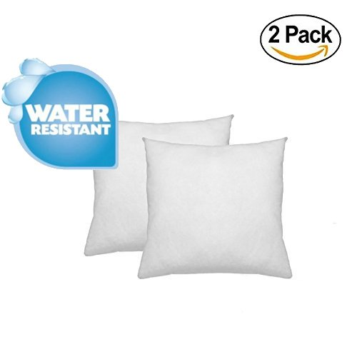 IZO Home Goods Premium Outdoor Anti-mold Water Resistant Hypoallergenic Stuffer Pillow Insert Sham Square Form Polyester, 18