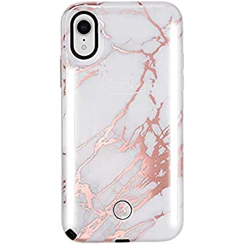 Amazon Com Lumee Duo Phone Case Rose White Marble