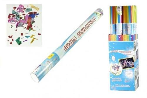 Sparacoriandoli tubo cannone multicolor h 80cm party carnevale matrimoni compleanno colori