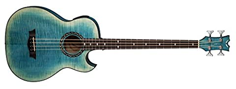 Dean EXFMFD Exhibition FM Bass Acoustic Electric with Aphex, Faded Denim