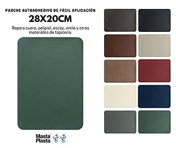 MastaPlasta Reparador Cuero, Polipiel y Skai - Parches Adhesivos Rectangulo XL (200x280mm) (Verde)