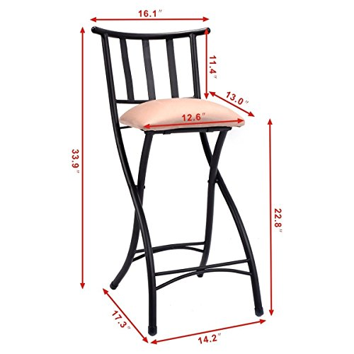 Costway Set of 4 Folding Bar Stools Counter Height Bistro  : 41gHT6farlL from www.desertcart.ae size 500 x 500 jpeg 27kB
