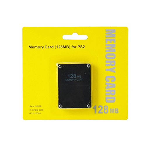 FIOTOK PS2 128MB Memory Card – High Speed 128MB Memory Card for Sony PS2 Playstation 2 Games