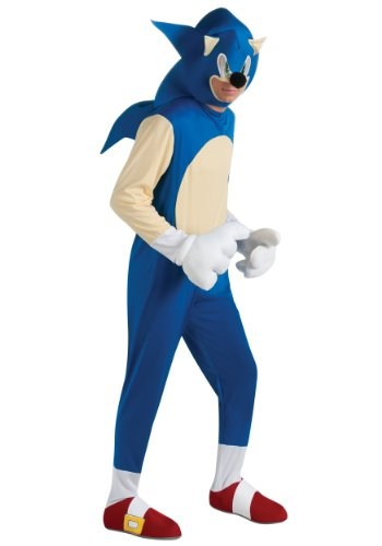 Sonic The Hedgehog Deluxe Adult Costume, Blue,