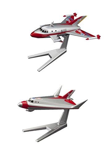 2 Bandai Ultraman Hobby Mecha Model Planes – Bundled Set – Jet VTOL and Sub VTOL (Japan Import)