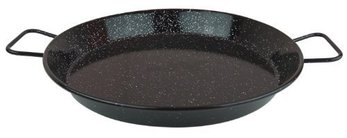 MageFesa Enameled Steel Paella Pan, 17 Inch