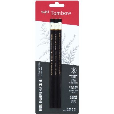 Tombow MONO Drawing Pencil, Assorted Degrees, Graphite 3-Pack