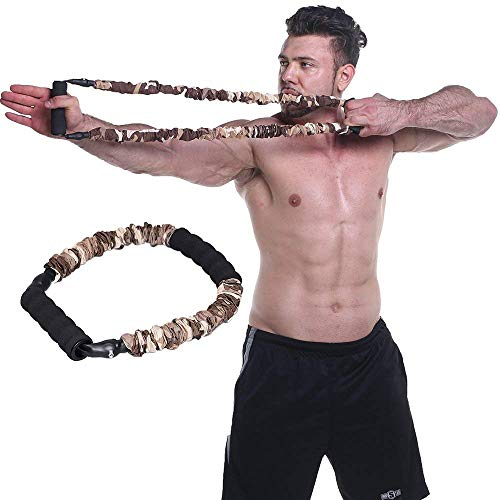 (Ranbo Hand Extensor Exerciser,Finger Strength Resistance Bands/arm Strength Training for Archery Pull Bow Workout Equipment Camouflage Color (55 LB))