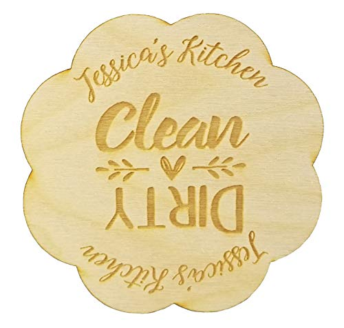 Custom Rustic Wood Dishwasher Magnet | Personalized Clean
