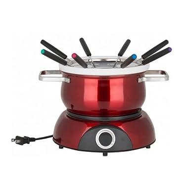 Trudeau 0829192 Electric Scarlet Fondue Pot, 84 oz, Red