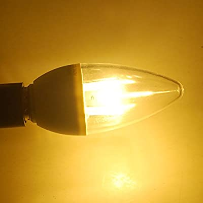Excellent 1x 5W LED Candle Light Bulb 15 SMD2835 100-120V E12 Plug 280LM Warm White