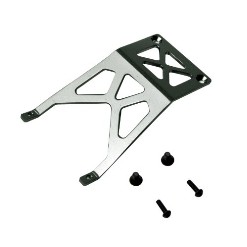Atomik RC Alloy Front Skid Plate, Grey fits the Traxxas 1/10 Stampede and Other Traxxas Models - Replaces Traxxas Part 3623 ()