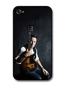 AMAF ? Accessories Bruce Springsteen Posing with a Guitar case for iPhone 4 4S A5616