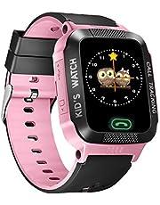 Queen.Y Smart klocka pekskärm för barn pojkar flickor smarta klockor fjärrkamera SOS LBS lokalisering positionsmätare