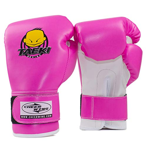 (Cheerwing 4oz PU Kids Boxing Gloves Children Cartoon MMA Sparring Dajn Training Gloves Age 5-10 Years)