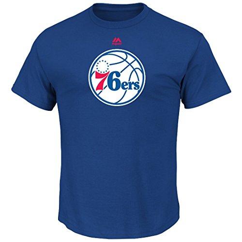 fan products of Philadelphia 76ers Men's Logo II Short Sleeve Crew Neck T-Shirt (X-Large)