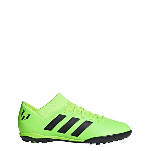 (adidas Unisex-Kids Nemeziz Messi Tango 18.3 TF J Soccer Shoe, Solar Green/Core Black/Solar Green, 12.5K M US Big Kid)
