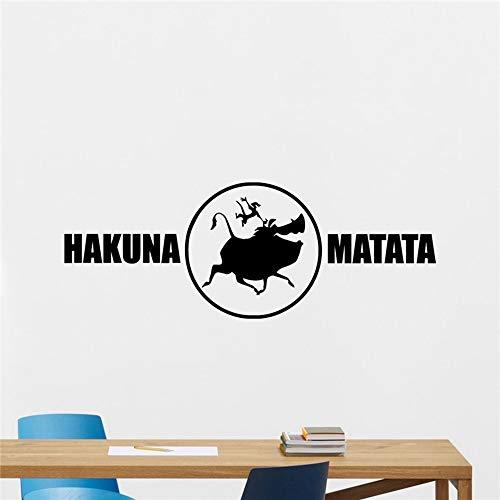 Hakuna Matata Tatuajes de pared Rey León Dibujos animados Timon ...