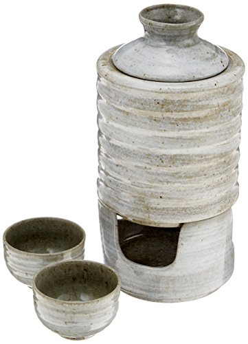 Also can cold vessel set celadon brush bottle and hot sake cold sake pottery Mino gift present (japan import) by [ Mino ] Shikisai - pottery ONLINE-