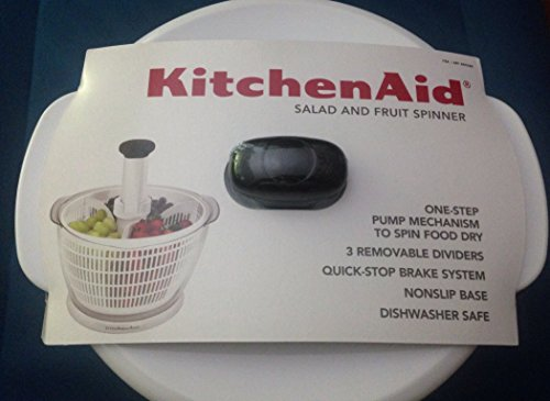 KitchenAid: Salad & Fruit Spinner in white