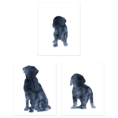 - Labrador Retriever Dog Watercolor Wall Art Decor - Set of 3 Prints (8x10) - Poster Photos - Puppy Dog
