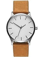 RMM Men's Popular Quartz Wristwatch,Classical Low-Key Minimalist Connotation Leather Watch
