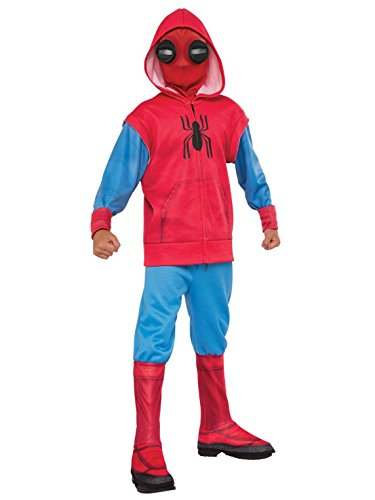 Rubie's Costume Co Spider-Man: Homecoming, Child's Deluxe Homemade Suit Costume, Large -