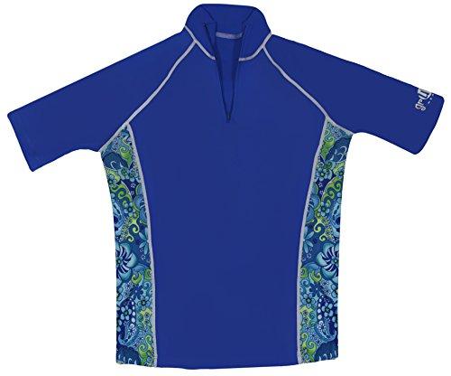 grUVywear UV Protective (UPF 50+) Ladies Short Sleeve Shirt (Adult M, Royal Paisley)