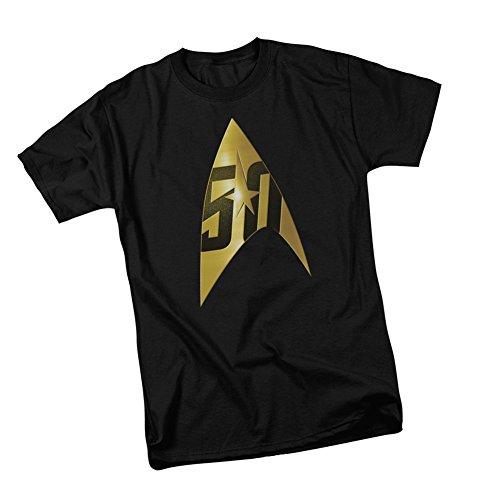 Star Trek 50th Anniversary -- Delta Shield Emblem Adult T-Shirt, Small