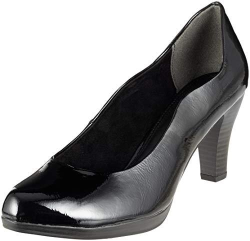 Femme Tozzi 22424 018 Noir Patent Escarpins 018 2 Black 21 Marco 2 dqtwd0