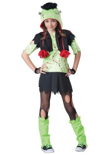 Bolero Hat Costume (InCharacter Costumes Big Girl's Monster Gurl Costume, Green/Black, Medium)