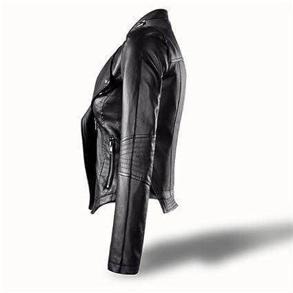 fashion: Autumn Leather Jacket Women Turn-down Collar Chaquetas Mujer Casaco Feminino Short Women Jacket Coat Slim Jaqueta Feminina at Amazon Womens Coats ...