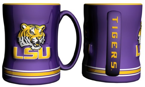 LSU Tigers Purple 15oz. Ceramic Relief Mug - Lsu Tigers Coffee Mug