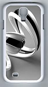 3D Black And White Lines With PC Hard Case Cover For Samsung Galaxy S4 SIV I9500 Case and Cover White