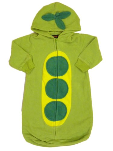 Pea Pod Halloween Costumes (Holiday Editions Infant Boys & Girls Pea in a Pod Costume Bunting Style Sleeper)